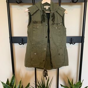 Anthropologie Marrakech Anorak Hooded Utility Vest